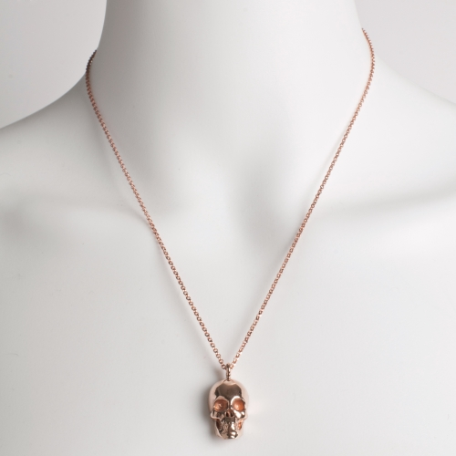 Skull Necklace Rose Gold