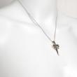 Dagger Necklace Silver
