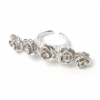 Rose Knuckle Ring Silver