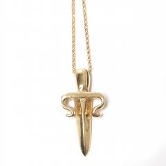 Dagger Necklace Gold