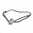 Skull Cord Bracelet Silver