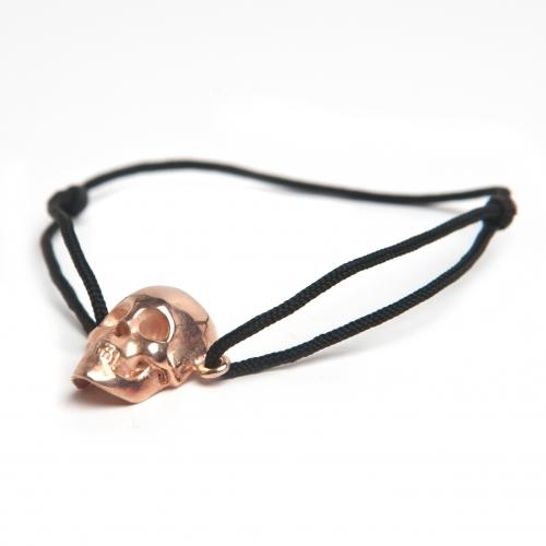 Skull Cord Bracelet Rose