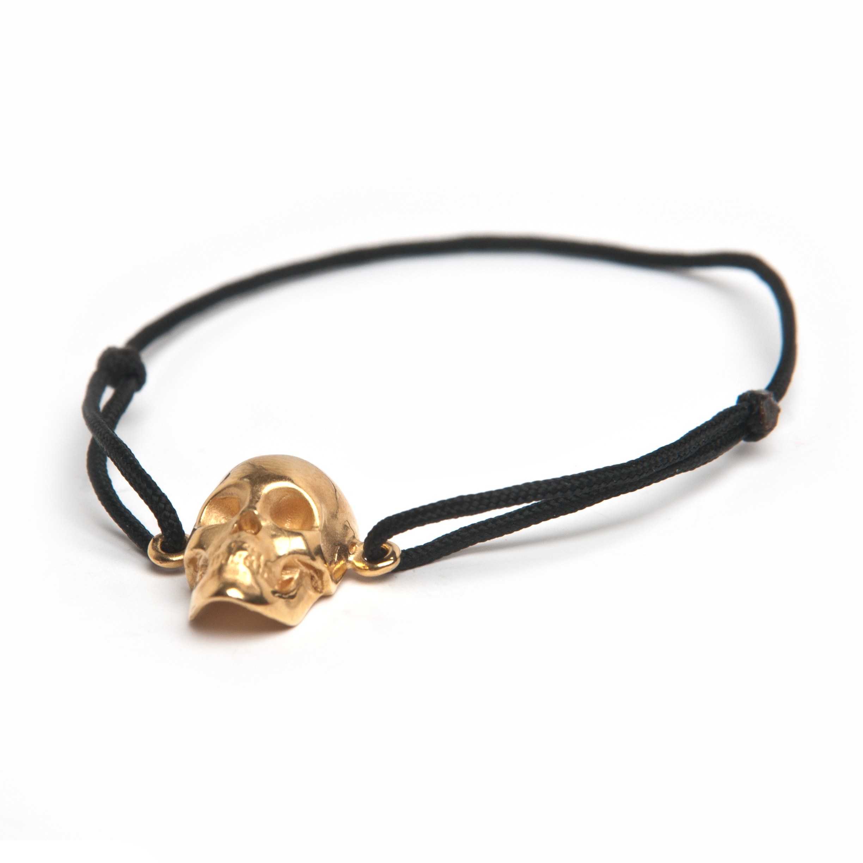 Skull Cord Bracelet Gold