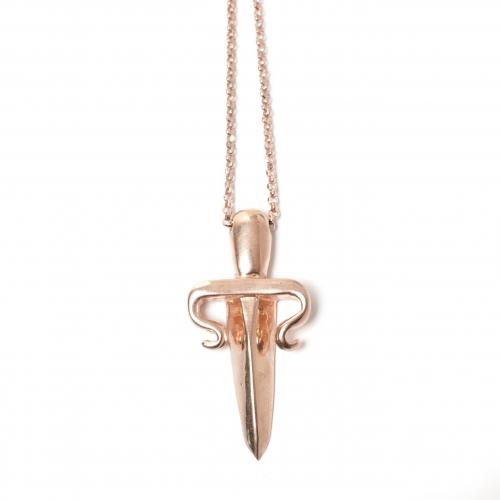 Dagger Necklace Rose Gold
