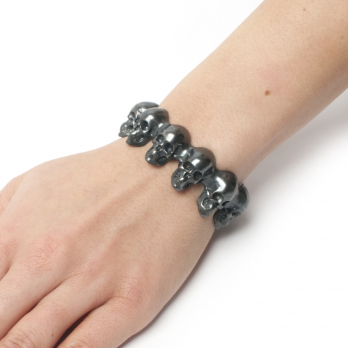 Skull Bangle Black Oxidized