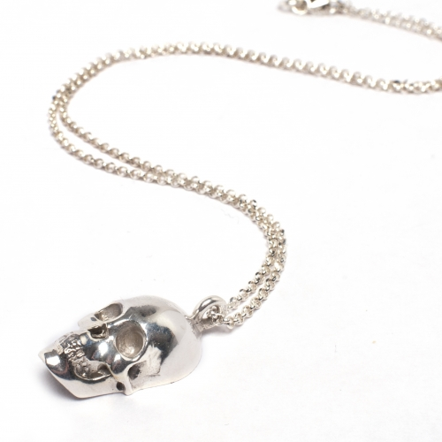 Skull Necklace Silver
