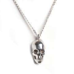 Skull Necklace Silver