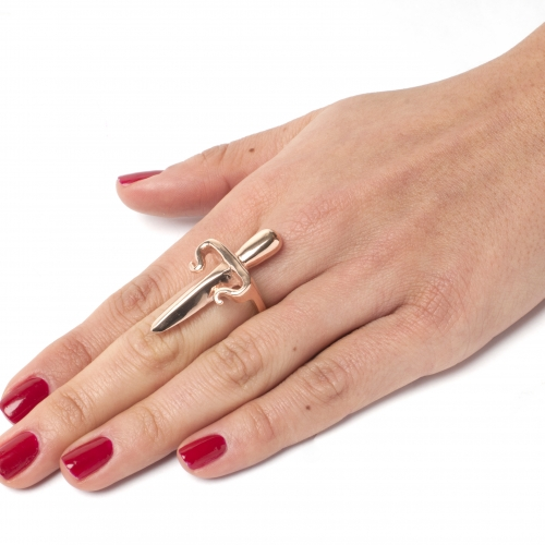 Dagger Ring Rose Gold