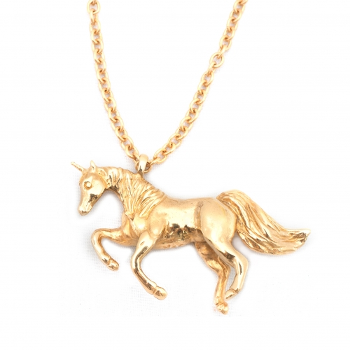Unicorn Necklace Gold