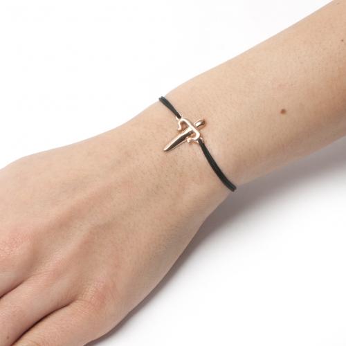 Dagger Cord Bracelet Rose Gold