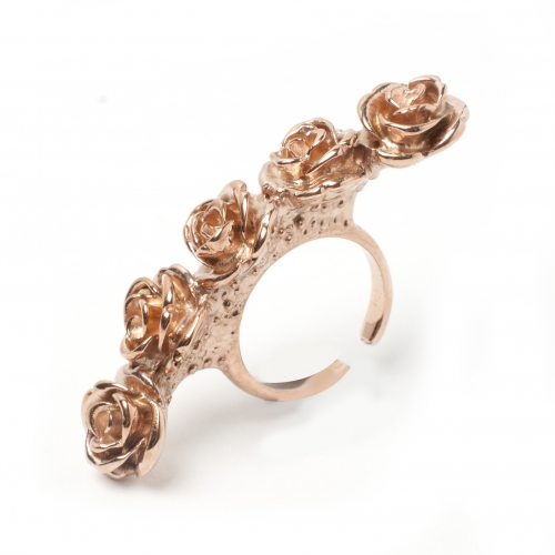 Rose Knuckle Ring Rose Gold