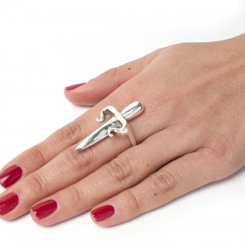 Dagger Ring Silver