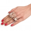 Olivia Rose Statement Ring Rose Gold