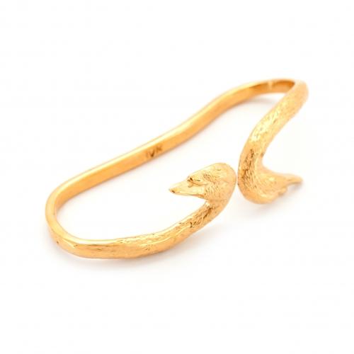 Swan Hand Cuff Gold