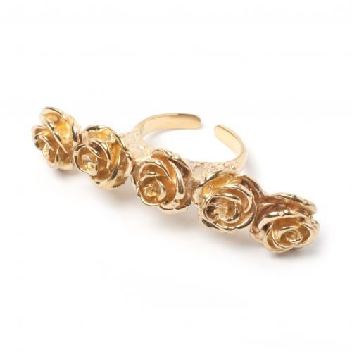 Rose Knuckle Ring Gold
