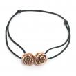 Double Rose Bead Cord Bracelet