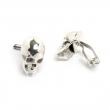 Skull Cufflinks Silver Mens