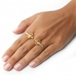 Dagger Double Ring Gold