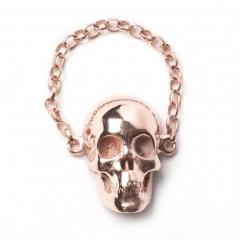 Skull Chain Ring Rose