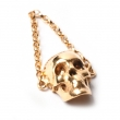Skull Chain Ring Gold