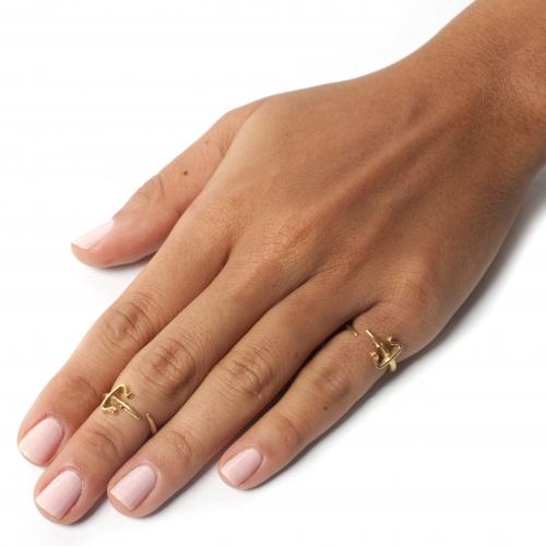 Dagger Pinky Midi Ring Gold