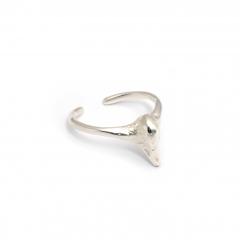 Swan Pinky Midi Ring Silver