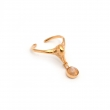Swan Pinky Midi Ring Gold and Moonstone Gem