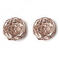 Rose Statement Stud Earrings Rose Gold