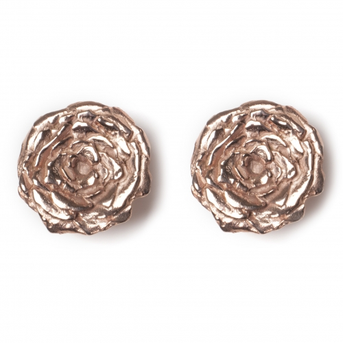 Rose Statement Stud Earrings Rose Gold