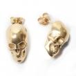 Skull Stud Earrings Gold
