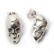 Skull Stud Earrings Silver