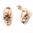 Skull Stud Earrings Rose Gold