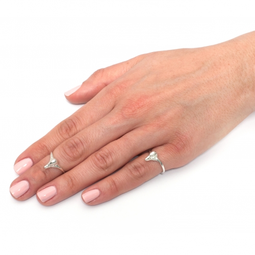 Swan Midi Pinky Ring Silver