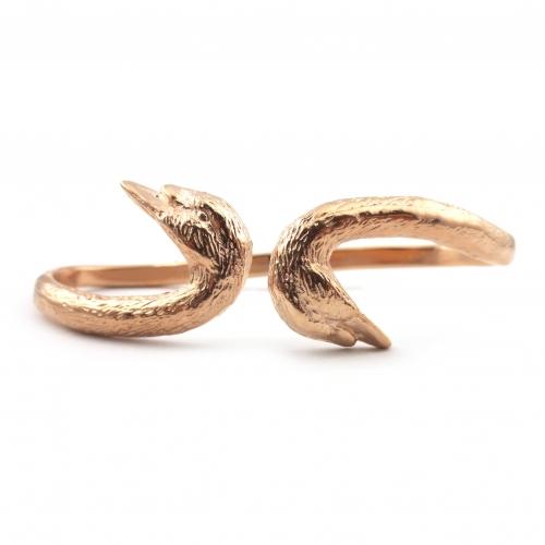 Swan Hand Cuff Rose Gold