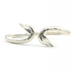 Swan Hand Cuff Silver