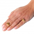 Rose Pinky Midi Ring Gold
