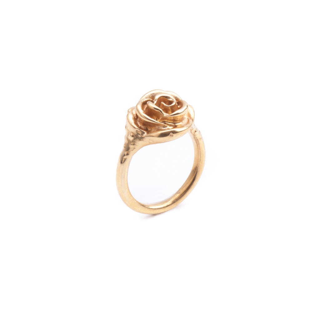 Rose Pinky Ring Gold Leivankash Jewellery