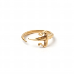 Dagger Pinky Midi Ring Gold