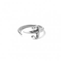 Dagger Pinky Midi Ring Silver