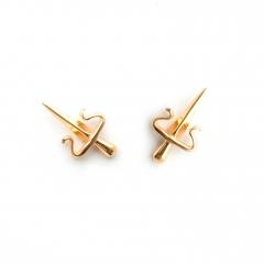 Dagger Stud Earrings Gold