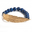 FBBLLYG Feather Lapis Bracelet