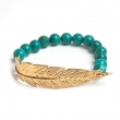FBBTQYG Feather Turquoise Bracelet