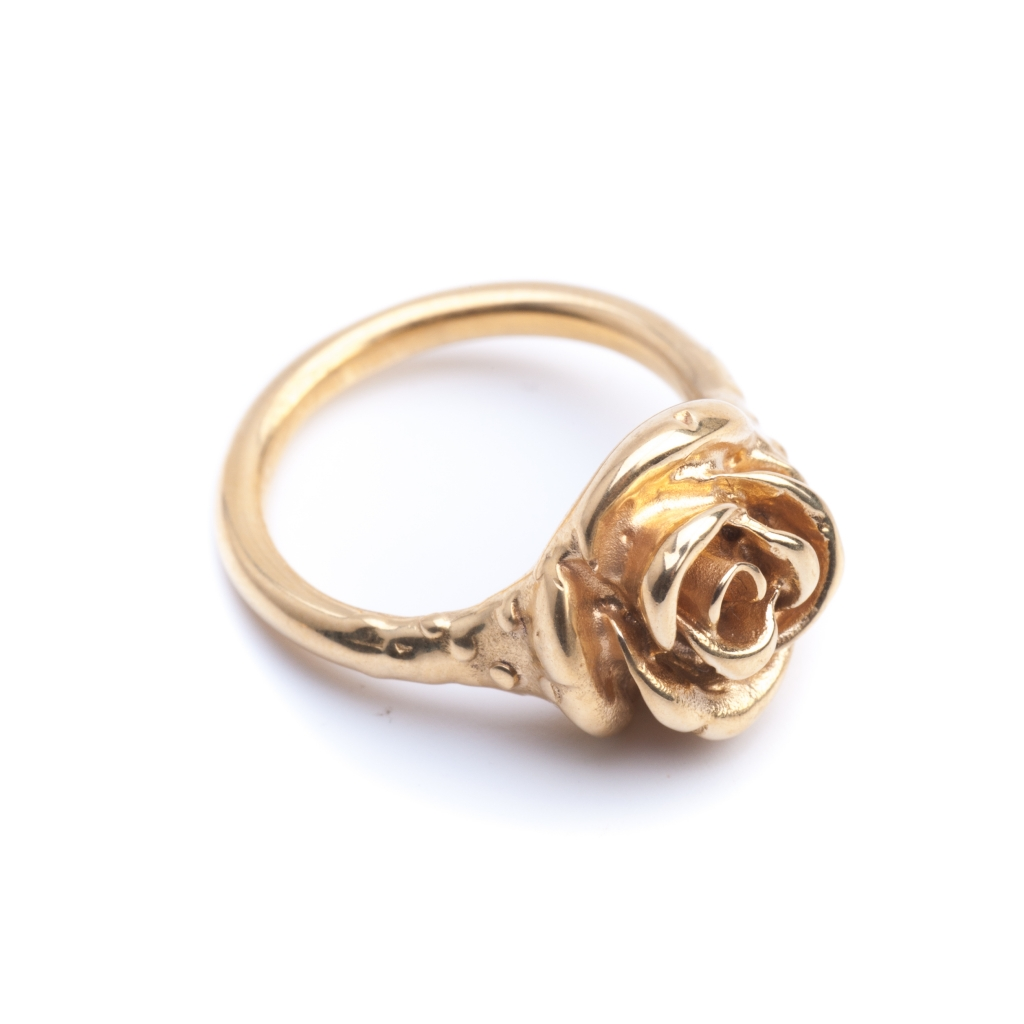 Rose Pinky Ring Gold Leivankash Jewellery