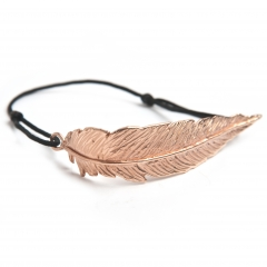 Feather Cord Bracelet Rose Gold