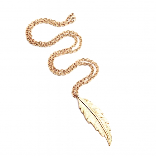 FRN20YG Feather Necklace 1