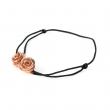 Double Rose Cord Bracelet