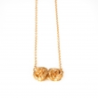 Double Rose Love Necklace Gold