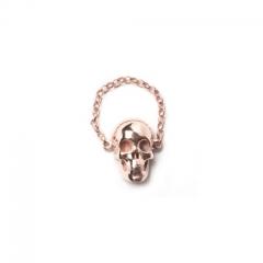 SK18 Skull Chain ring -Rose gold