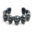 Skull Cuff Black Oxidized