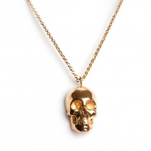 Skull Necklace Gold